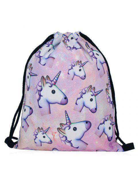outfits Unicorn Print Drawstring Backpack - COLORMIX  Mobile