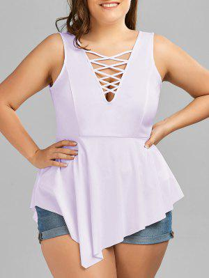 V Neck Crisscross Asymmetrical Tallas grandes