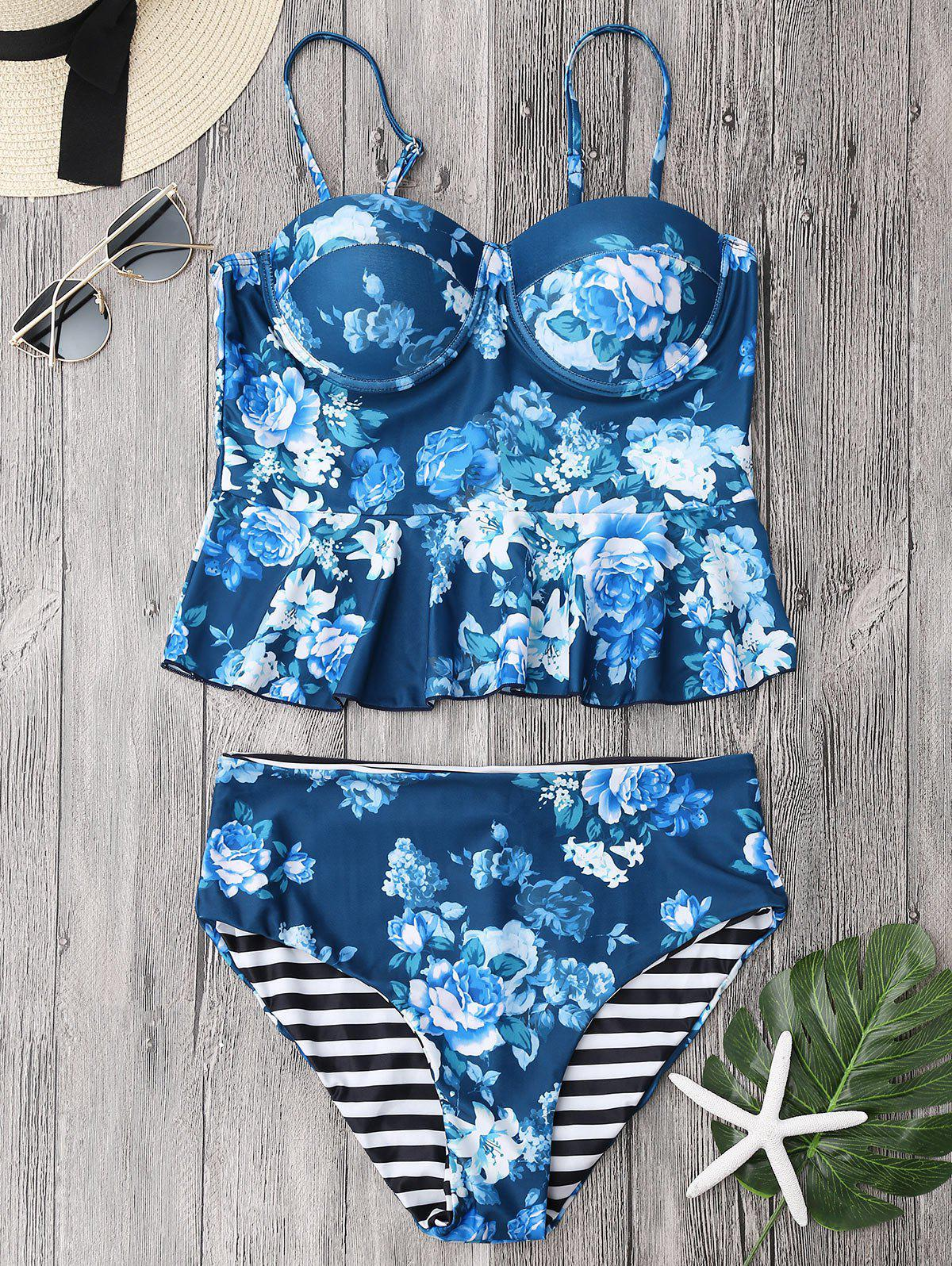 Cupped Tankini Top and High Rise Bottoms 216371702