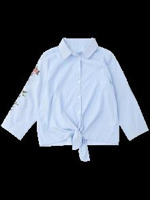 Raya Nudosa Bordada Rayada Camisa S BCn6Ca