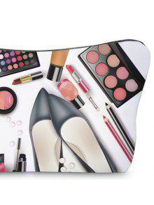 3D Cosmetics Print Clutch Makeup Bag