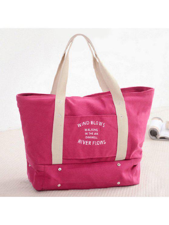الرسم طباعة قماش تخزين حقيبة حمل - وردة حمراء