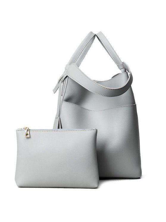 حقيبة يد قابلة للتحويل مع حقيبة الحقيبة - رمادي