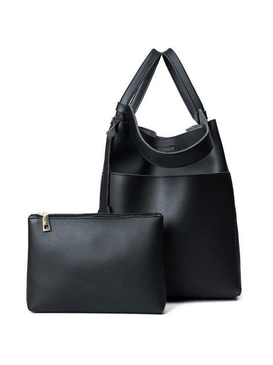حقيبة يد قابلة للتحويل مع حقيبة الحقيبة - أسود