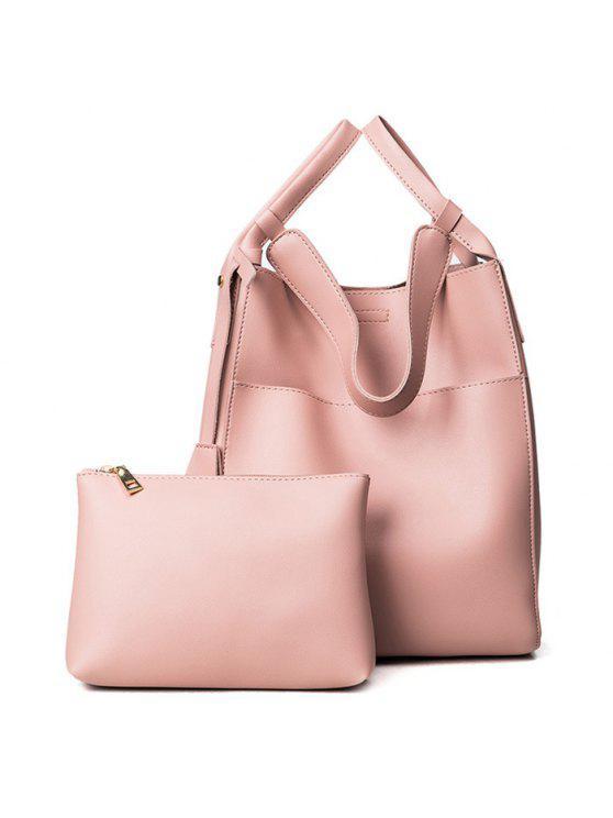 حقيبة يد قابلة للتحويل مع حقيبة الحقيبة - زهري