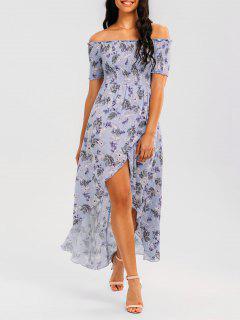 Floral Vestido De Hombro Maxi - Floral Xl