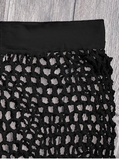 Short Couvert de Plage en Crochet à Filet - Noir M Mobile