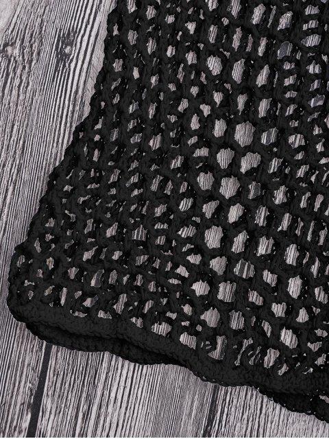 Short Couvert de Plage en Crochet à Filet - Noir S Mobile