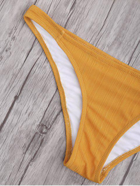 hot Criss Cross Spaghetti Strap Texture Bikini Set - GINGER M Mobile