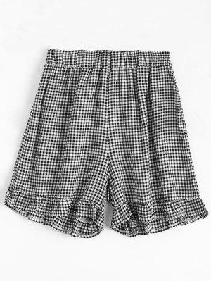 Pantalons En Taffette à Haute Taille - Carré M