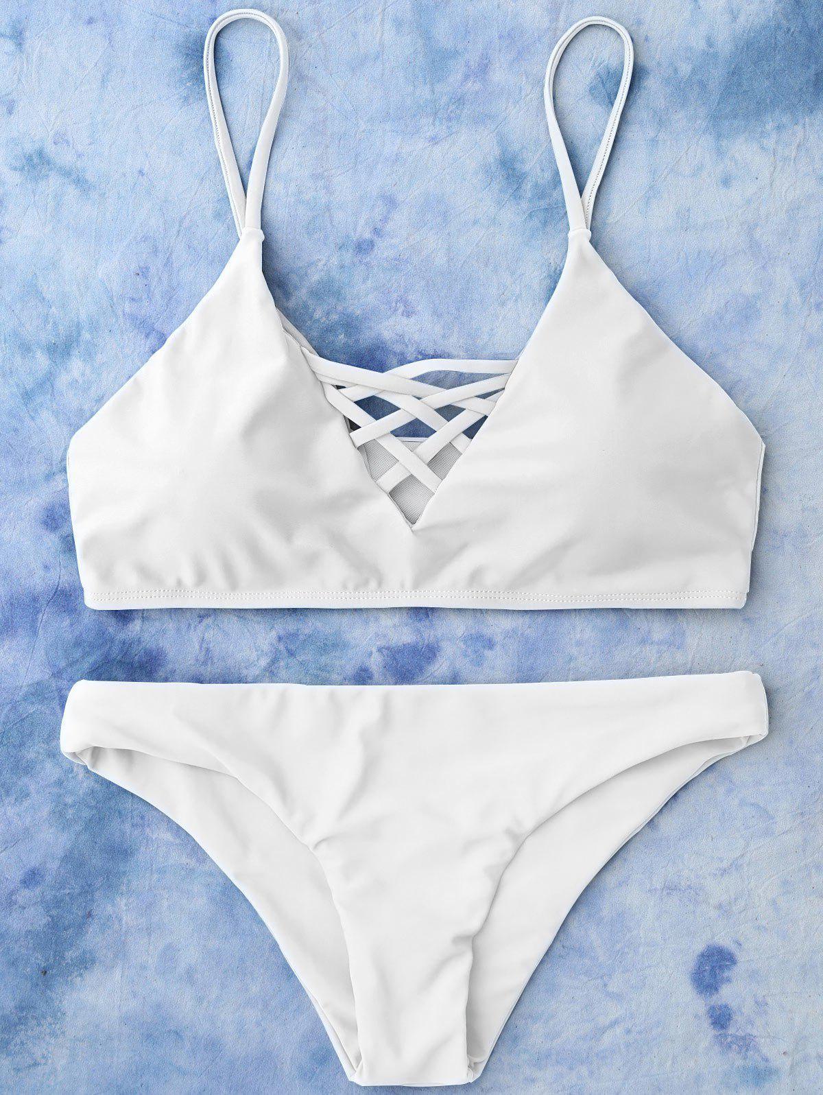 Lace Up Bikini Swimwea