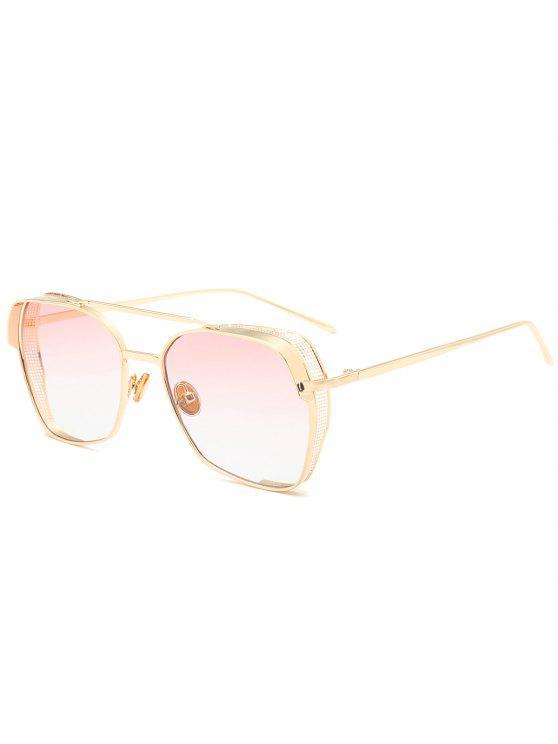Marco geométrico Doble Metal Crossbar Gafas de sol - Rosa