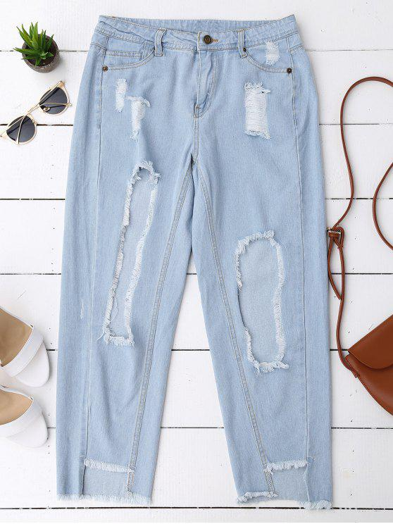 Taglia i jeans coniche affilate - Blu Denim L