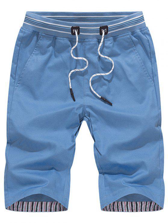 عارضة الرباط السراويل برمودا - أزرق سماوي XL