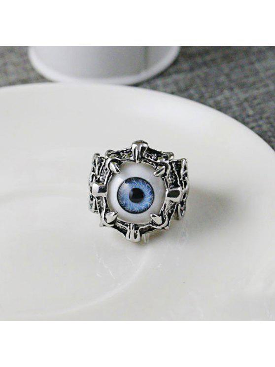 الفولاذ المقاوم للصدأ الشيطان العين الدائري - أزرق 8
