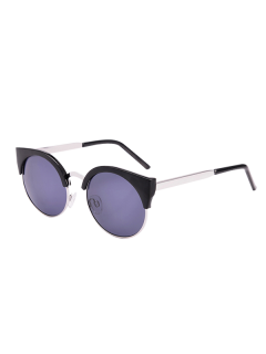 UV Protection Cat Eye Sunglasses With Box - Black