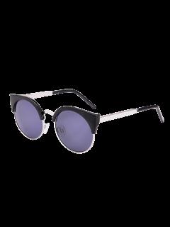 Gafas De Sol De Protección UV Para Gafas De Gato Con Caja - Negro