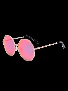 Statement Geometric Anti UV Sunglasses With Box - Pink