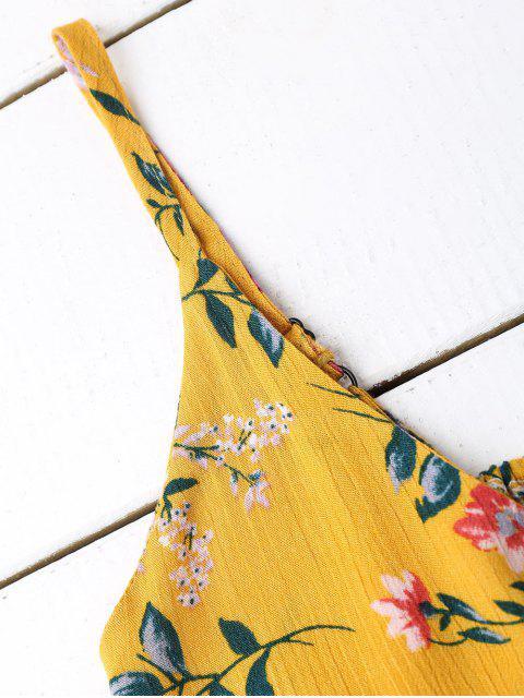 Débardeur Floral à Volants - Floral Taille Unique Mobile