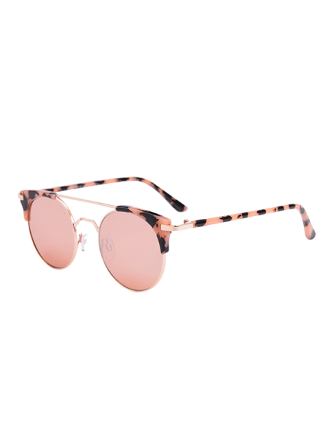 women Anti UV Cat Eye Sunglasses with Box - PINK  Mobile
