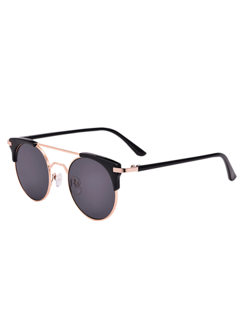 women's Anti UV Cat Eye Sunglasses with Box - BLACK  Mobile