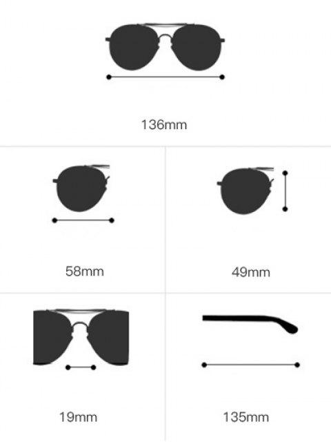 outfit Metallic Long Crossbar Shield Sunglasses - RED  Mobile