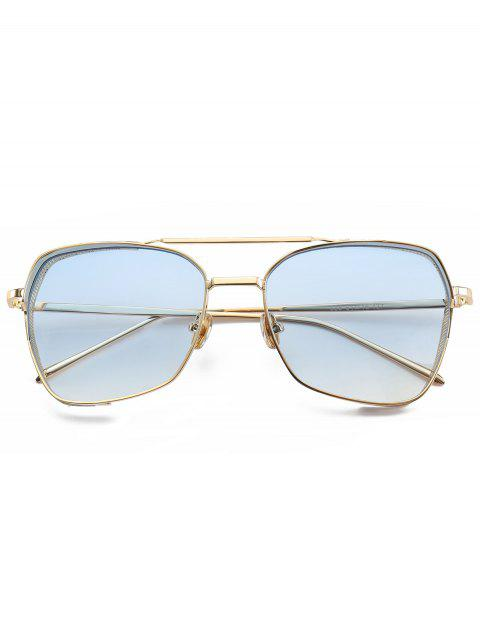 shops Geometrical Frame Double Metal Crossbar Sunglasses - LIGHT BLUE  Mobile