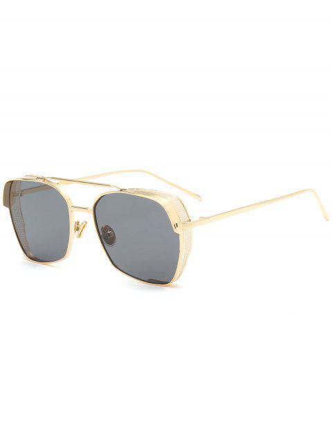 Marco geométrico Doble Metal Crossbar Gafas de sol - Negro  Mobile