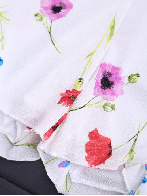 T-shirt à manches longues - Blanc XL Mobile
