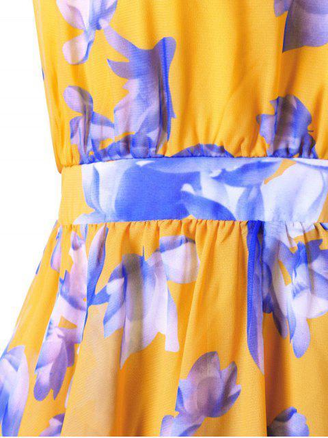 Robe en mousseline asymétrique haute taille taille haute - Mandarin 3XL Mobile