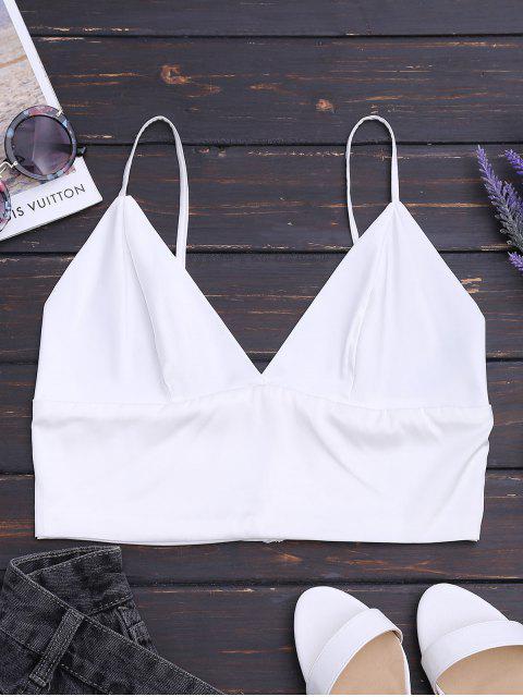 Cami Satin CropTank Top - Weiß S Mobile