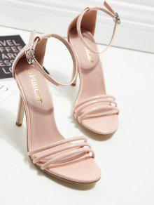 a5e4df0e6048d1 31% OFF  2019 Ankle Strap Strappy Patent Leather Sandals In NUDE ...