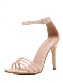 f1776c42013b57 ... Ankle Strap Strappy Patent Leather Sandals  Ankle Strap Strappy Patent  Leather Sandals. shop Ankle Strap Strappy Patent Leather Sandals - NUDE  PINK 38