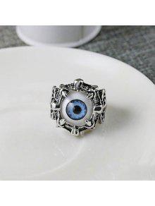 الفولاذ المقاوم للصدأ الشيطان العين الدائري - أزرق 9