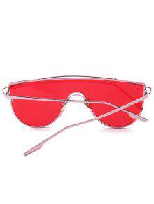 84db9632d0 Metallic Long Crossbar Shield Sunglasses  Metallic Long Crossbar Shield  Sunglasses ...