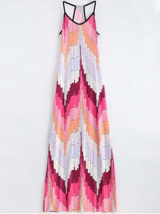 Geométrico Imprimir Cami Maxi Dress - Multi XL