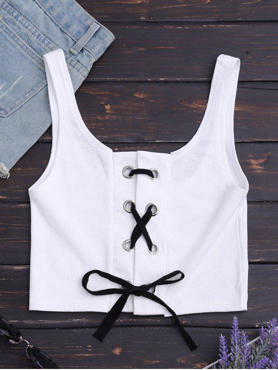 Textura acanalada con cordones - Blanco L