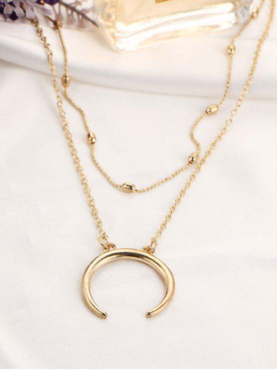 unique Moon Gypsy Pendant Necklace Set - GOLDEN