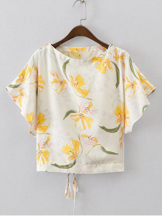 Batwing Floral con cordones arriba - Floral S