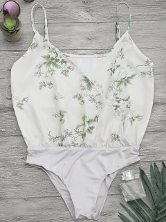 Blumendruck Crossover Button Cami Bodysuit - S