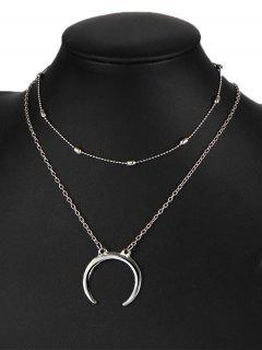 Moon Gypsy Pendant Necklace Set - Silver