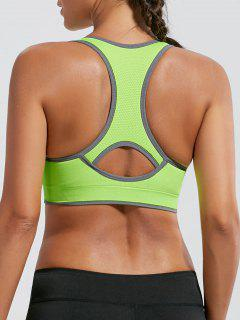Paded Racerback High Impact Sports Bra - Bright Yellow L
