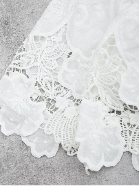 Cover Up Top croppé aux épaules dénudées - Blanc M Mobile