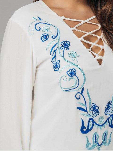 Robe à manches courtes Criss Cross - Blanc 5XL Mobile