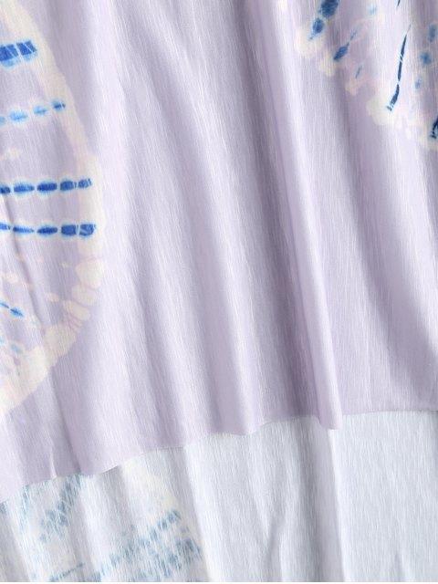 shops Tie Dye Beach Long Dress Cover Up - PURPLE M Mobile