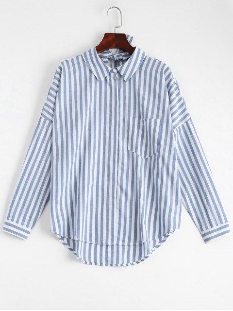 Bowknot Stripes Shirt mit Tasche - Streifen  L Mobile