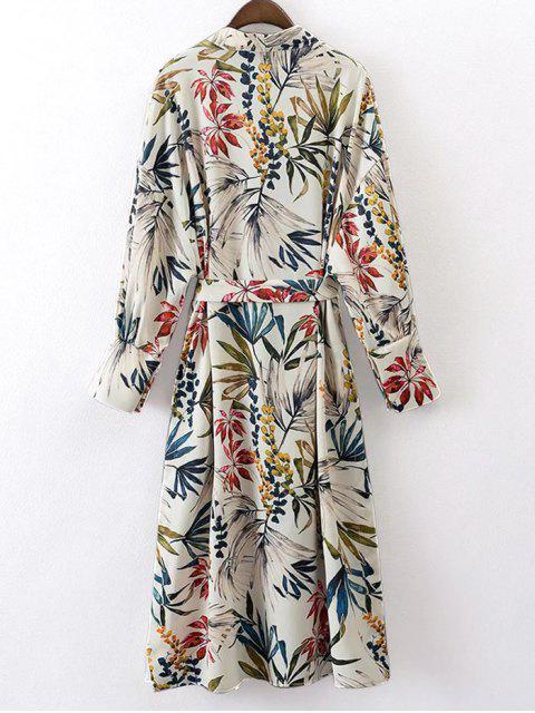 Blouson en kimono à motif  floral avec ceinture - Floral S Mobile