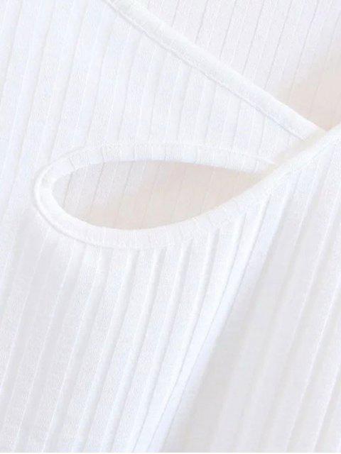 Tricoté à l'épaule - Blanc M Mobile