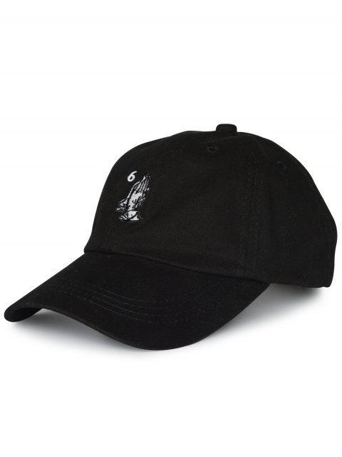 Zahl Palmen Stickerei Baseball Kappe - Schwarz  Mobile
