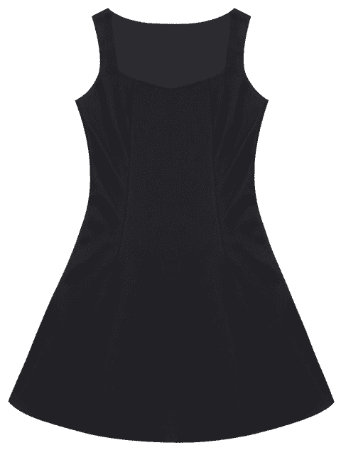 Robe sans manches Sweetheart Mini Skater - Noir 2XL Mobile